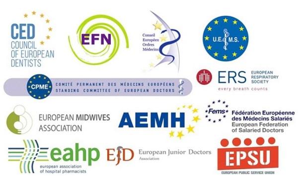 Evropske  organizacije zdravnikov